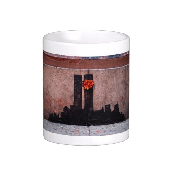 'Twin Towers' New York Banksy Art Coffee Mug