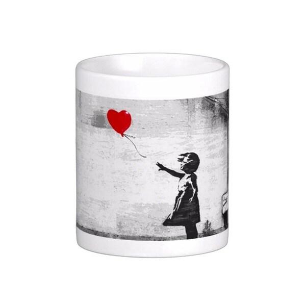 'There Is Always Hope' Closeup Gray London Banksy Art Coffee Mug