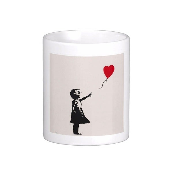 'There Is Always Hope' Closeup White London Banksy Art Coffee Mug