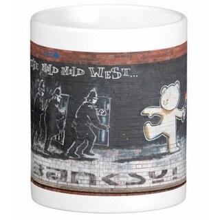 'The Mild Mild West' Bristol Banksy Art Coffee Mug