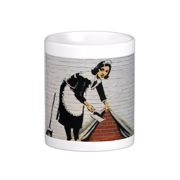 'Sweep It Under The Carpet' London Banksy Art Coffee Mug