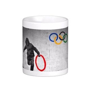 'Stolen Olympic Ring' Banksy Art Coffee Mug