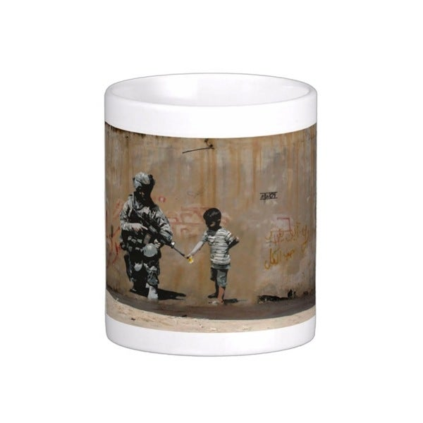 'Soldier Flower Gun Boy' Banksy Art Coffee Mug