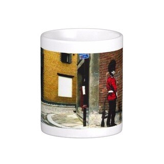 'Pissing Soldier' London Banksy Art Coffee Mug