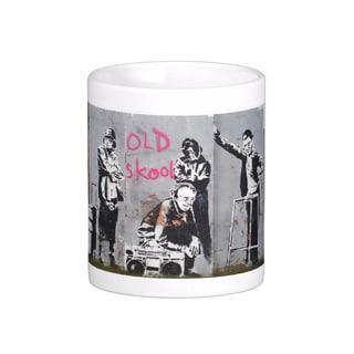 'Old Skool' London Banksy Art Coffee Mug