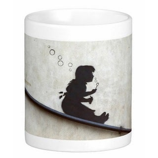 'Bubble Girl' London Banksy Art Coffee Mug