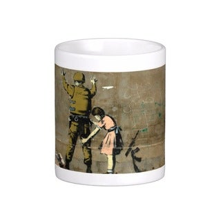 'Girl And Soldier' Bethlehem Banksy Art Coffee Mug