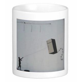 'Fridge Kite' New Orleans Banksy Art Coffee Mug