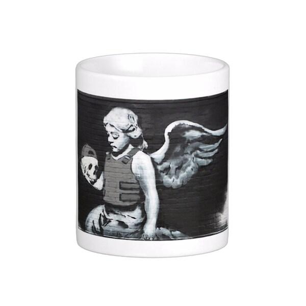 'Fallen Angel' London Banksy Art Coffee Mug