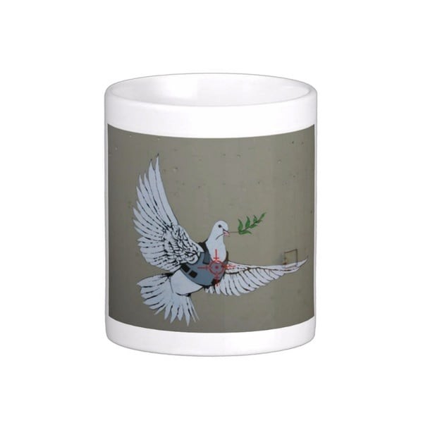 'Dove of Peace' Bethlehem Banksy Art Coffee Mug