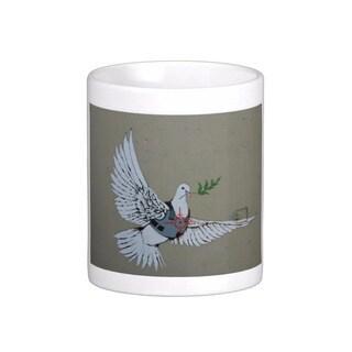 'Dove of Peace' Bethlehem Banksy Art Coffee Mug