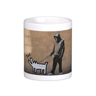 'Choose Your Weapon Dog' London Banksy Art Coffee Mug
