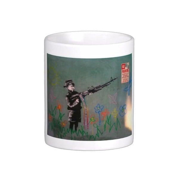 'Child Soldier' Los Angeles Banksy Art Coffee Mug