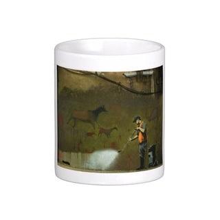 'Cave Painting Removal' London Banksy Art Coffee Mug