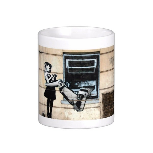 'Cash Machine Girl' London Banksy Art Coffee Mug