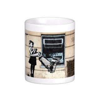 'Cash Machine Girl' London Banksy Art Coffee Mug