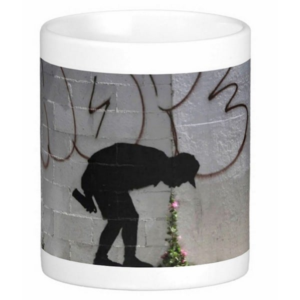 'Better In Than Out' Los Angeles Banksy Art Coffee Mug