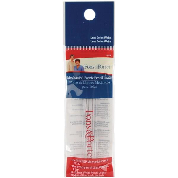 Fons & Porter Mechanical Fabric Pencil Lead Refill 10/PkgWhite