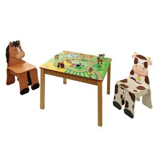 Fantasy Fields Happy Farm 3-piece Kid's Table Set
