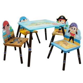 Fantasy Fields Pirate Island 5-piece Kid's Table Set