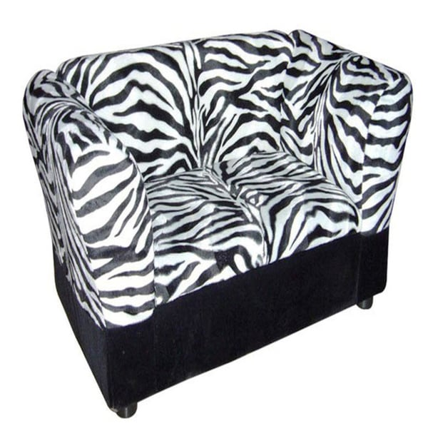 Pet Sofa Storage Zebra Bed