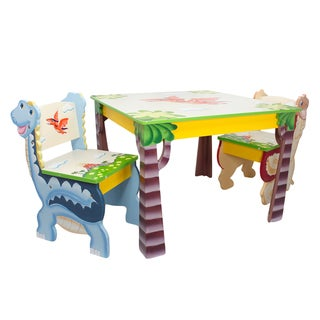 Fantasy Fields Dinosaur Kingdom 3-piece Kid's Table Set