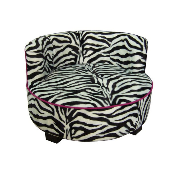 Round Pet Zebra Upholstered Print Furniture