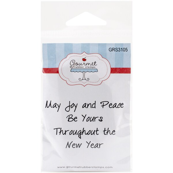 Gourmet Rubber Stamps Cling Stamps 2.75inX4.75inMay Joy & Peace Be Yours