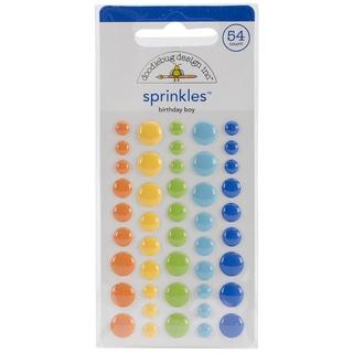 Hip Hip Hooray Sprinkles Glossy Enamel Stickers 45/Pkg