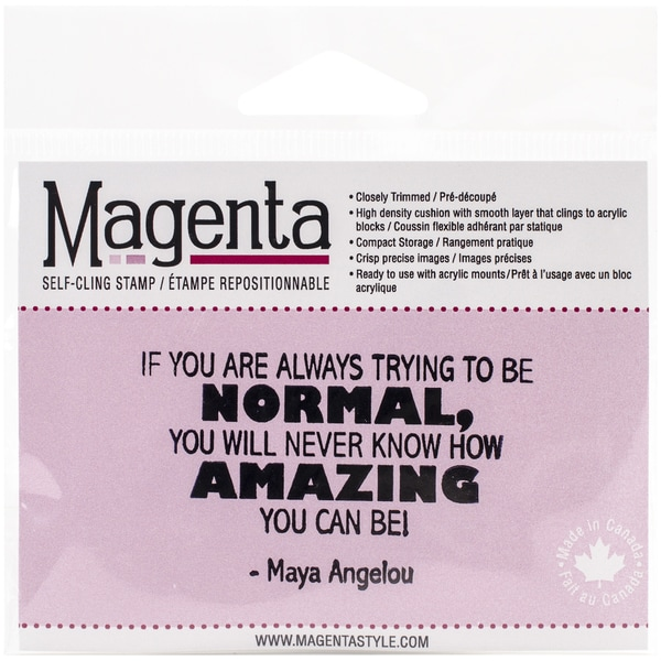 Magenta Cling Stamps 1.75inX2.75inIf You Are Always Trying To Be