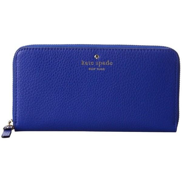 Kate Spade Cobble Hill Lacey Bright Lapis Blue Wallet