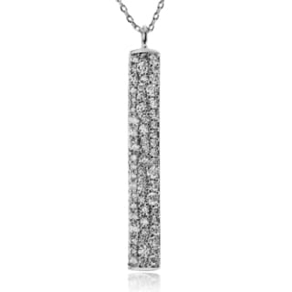 Journee Collection Metal Cubic Zirconia Bar Pendant