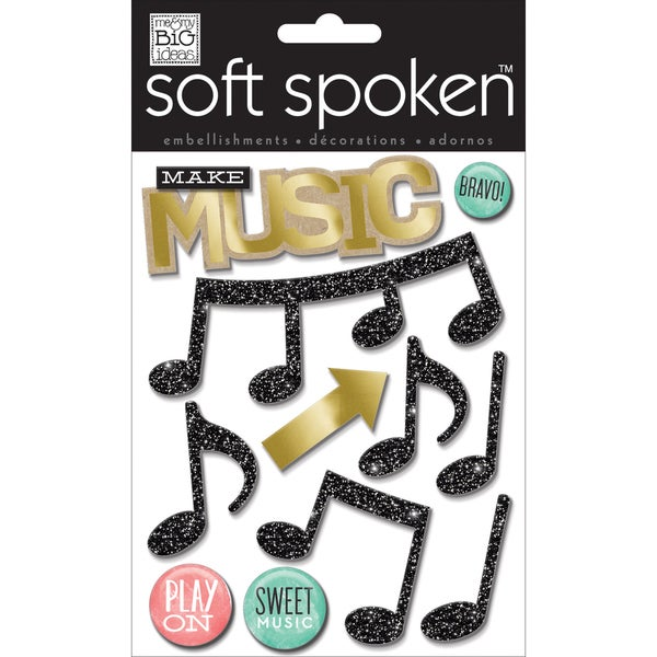 Soft Spoken Themed EmbellishmentsMake Music