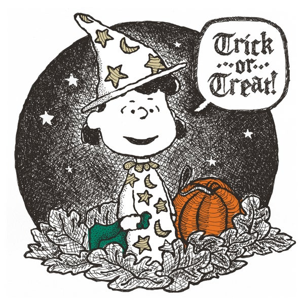 """Marmont Hill - """"Lucy Trick or Treat"""" Peanuts Print on Canvas"""