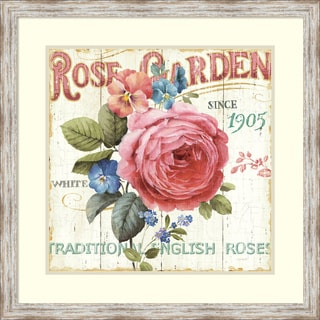 Lisa Audit 'Rose Garden I' Framed Art Print 29 x 29-inch