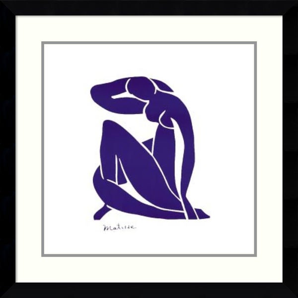 Framed Art Print 'Blue Nude' by Henri Matisse 31 x 31-inch 16111390