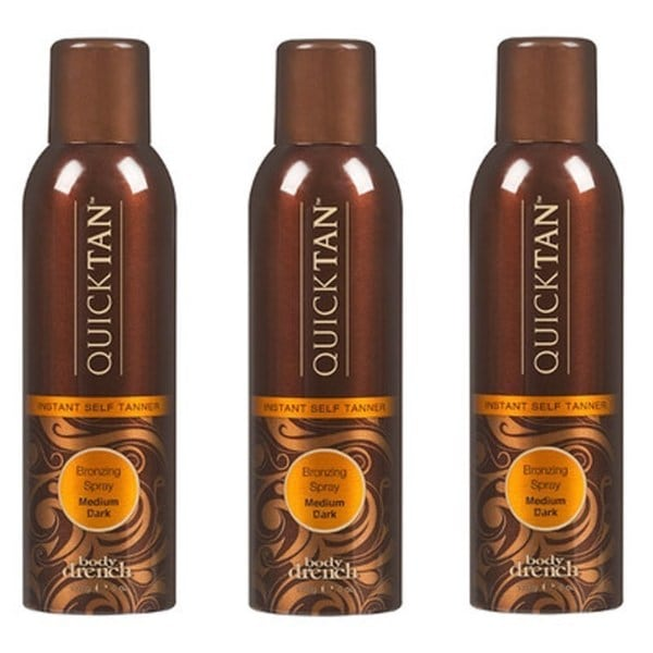 Body Drench Spray Quick Tan Tanning Mist Sunless Self Tanner (Pack of 3)