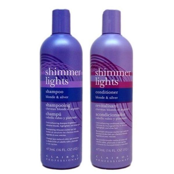 Clairol Shimmer Lights 16-ounce Shampoo and Conditioner