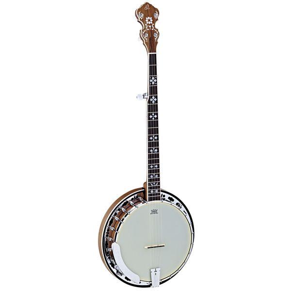 Ortega Guitars OBJ550W-SNT Raven Series 5-string Burl Walnut Banjo