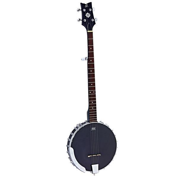 Ortega Guitars OBJE250OP-SBK Raven Series 5-string Banjo