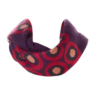 Amtal Multi Color Abstract Circle Knit Infinity Scarf