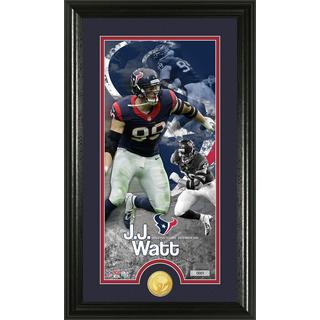 J.J. Watt 'Supreme' Bronze Coin Panoramic Photo Mint
