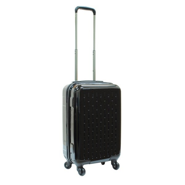 Samboro Celebrity 18-inch Black Lightweight Hardside Spinner Suitcase
