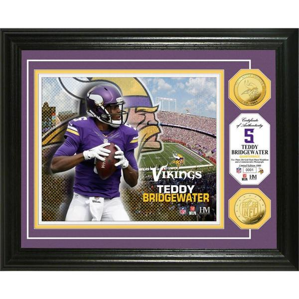 Teddy Bridgewater Gold Coin Photo Mint