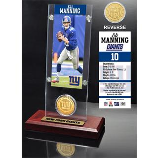 Eli Manning Ticket and Bronze Coin Acrylic Desk Top