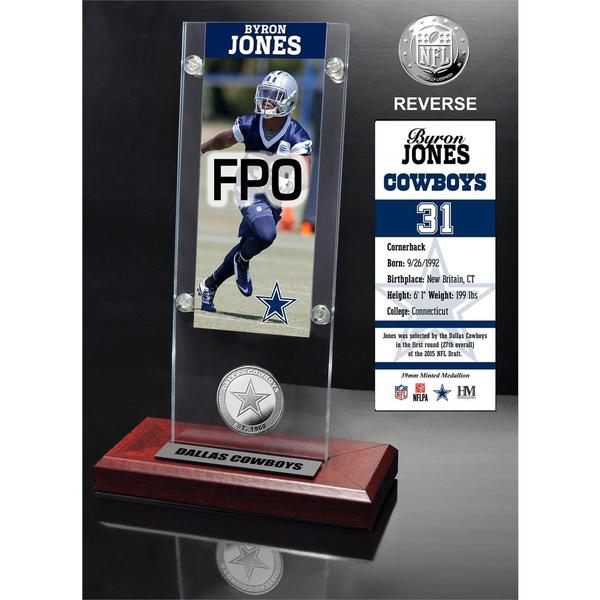 Byron Jones Ticket and Minted Coin Acrylic Desk Top