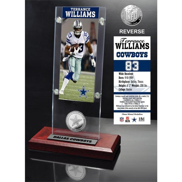 Terrance Williams Ticket and Minted Coin Acrylic Desk Top