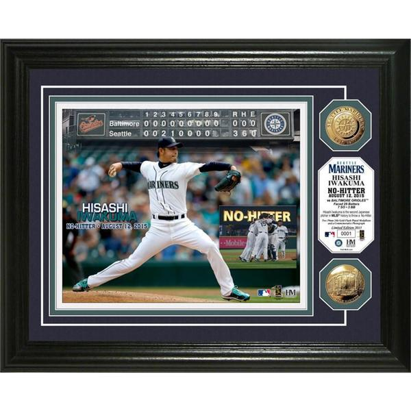 Hisashi Iwakuma 'No-Hitter' Gold Coin Photo Mint