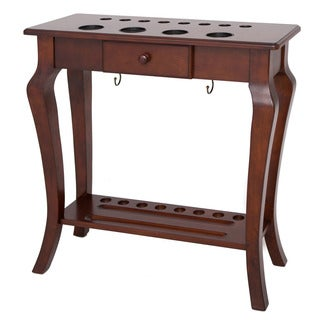 Deluxe Floor Cue Rack Walnut Finish