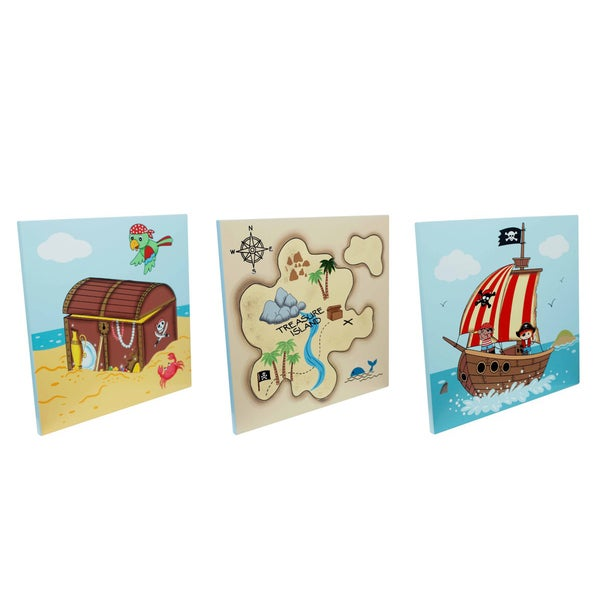 Teamson Fantasy Fields Pirates Island Wooden Wall Art Set 16115151